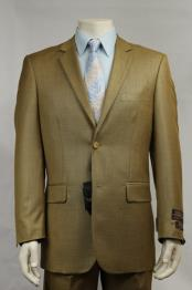 2 Button patterned Mini Weave Patterned Shiny Sharkskin Bijan ~ Gold Stage Party Suit