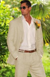 Taupe 100% Linen Suit in Mens & Boys Sizes Perfect for