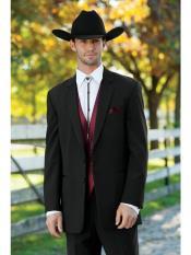 Mens Western Suit & Tuxedo Traje Vaquero Black