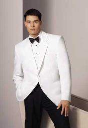 2 Button Notch Lapel White Dinner Jacket