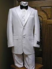 Two Button Tuxedo jacketPant And Vest Combination White