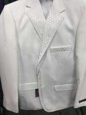 Mens 2 Button Vested Tuxedo White