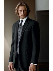 Wool Black suit with