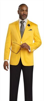 Mens Colorful Yellow 2 Button Cheap Priced Designer Fashion Dress Casual Blazer