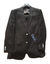 Black Single Breasted Two Buttons 100% Linen Modern Fit lined suit