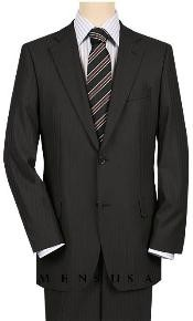 2 Button Side Vented Black Mini Shadow Pinstripe High-quality tone suits