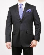 2 Button Shadow Stripe ~ Pinstripe Suit Black On Black