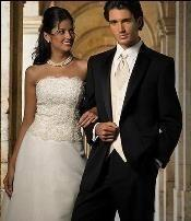 Mens Color- Solid True Black  2 Button Notch Tuxedo