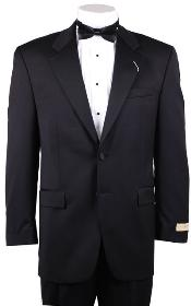 Mens 1/2 Buttons Black Tuxedo Cheap Unique Dress Blazer For Men