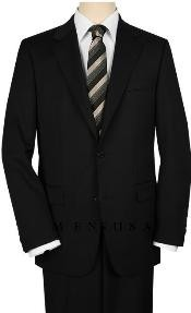 Construction 2 Button Notch Lapel Side Vented Black on Solid Black