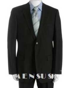& Classy Solid Black Super 150s Wool 2 Button Style Back Notch Lapel Side Vented Available in