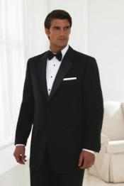 MENS 2 BUTTON TUXEDO SUPER 150S WOOL NOTCH LAPEL Jacket +