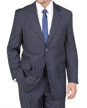 2 Button Blue Stripe ~ Pinstripe Suit