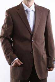 Two Button 2 Button Jacket Cocoa Dress Suit