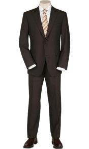 Mix and Match Suits Mens Solid Brown Quality 2 Buttons Portly Suits