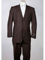 Summer 2 Button Brown Single Breasted Notch Lapel Suit