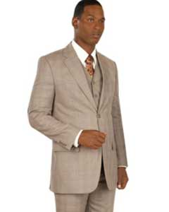 Button Vested Taupe or