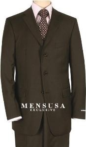 Solid Brown Quality Suit Separates Total Comfort Any Size Jacket&Any Size