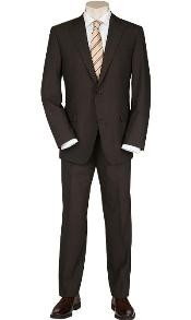 2 Button blazer flaunts full sleeves Solid Brown Quality SuitsTotal Comfort Any Size Jacket&Any Size Pants