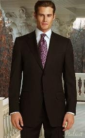 2pc 2 Button Brown Super 150s Suit With Hand Pick Stitching