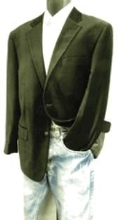 2 Button Velvet Blazer Brown Blazer Jacket