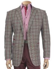 Two Buttons Plaid Pattern