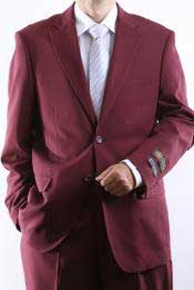 Mens 2 Button Jacket Burgundy ~ Maroon ~ Wine Color Dress