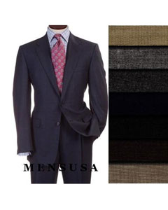 2 Buttons Style Super Worsted Vergin Wool Business Suits Comes in