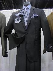 PC 2 Button Suit Luxurious Poly Rayon Charcoal Cheap Priced Business