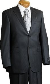 Separate Mens 2 Button Charcoal Pin Italian Designer Suit Charcoal