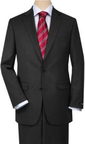 Mix and Match Suits Mens Solid Charcoal Gray  Quality 2 Buttons