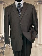 Mens 2 Button Extra Long Charcoal Grey Mens Business ~ Wedding 2 piece Side Vented Suit With