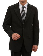 2 Button Front Closure Discounted Sale Fit Suit Black