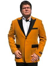 Big and Tall Tuxedo Alberto Nardoni Brand Gold Velvet Tuxedo velour Jacket