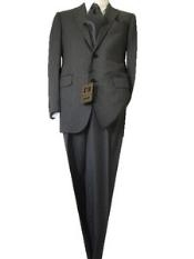 Discounted Sale Slim Cut2 Button Gray Nailhead Mens Suit
