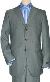 Solid Light Gray Quality Suit Separates Total Comfort Any Size Jacket&Any