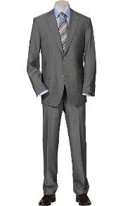 Single Breasted ultra soft fabric Solid Light Gray Suit SeparatesTotal Comfort