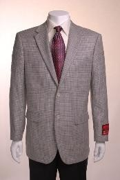 Jacket/Cheap Unique Dress Blazer For Men Jacket For Men Sale Gray Basketweave 2 Button Vented Wool