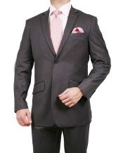 2 Button Stripe ~ Pinstripe Suit Grey