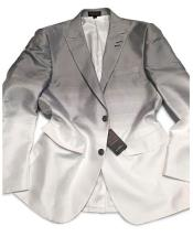 Grey/White 2 Buttons Cheap Priced Designer Fashion Dress Casual Blazer For