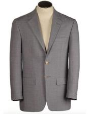 Brass buttons Mens Two Buttons Single Breasted Polyester & Wool Blend