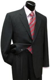 Mens 2 Button Dark Grey Single Breasted 100% Super fine wool Business ~ Wedding 2 piece Side