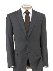 Mild Grey 2 Button Three Piece Suit with Trousers