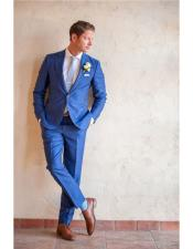 Royal Indigo Bright Blue Cobalt Dress Suits for Men
