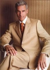 Khaki~Camel ~ Quality Suit Separates Total Comfort Any Size Jacket &