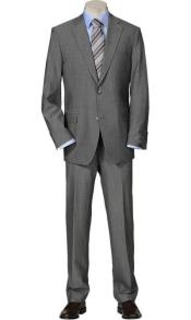 Mix and Match Suits Mens Solid Light Gray  Quality 2 Buttons