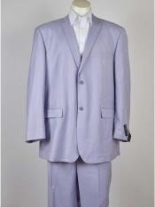 Button Mens Single Breasted Lilac Notch Lapel Wool Suit