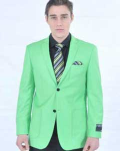 Mens Fitted Premium lime mint Green Blazer Cheap Priced Unique Fashion Designer