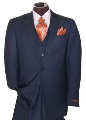 2 Button Dark Navy Blue Suit For Men Regular Basic Cut