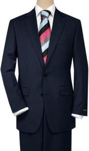 Mix and Match Suits Mens Solid Dark Navy Blue 2 Buttons Portly